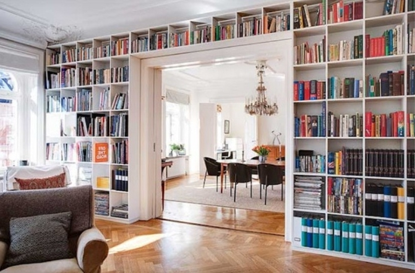 diy bookshelf ideas gallery 10 of 15 - Full Wall Bookshelves