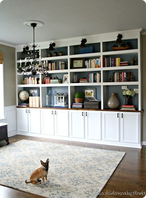 Diy Built In Bookcases I Personally Love The Contrast Of The White Intended For Most Popular White Library Bookcases (View 5 of 15)