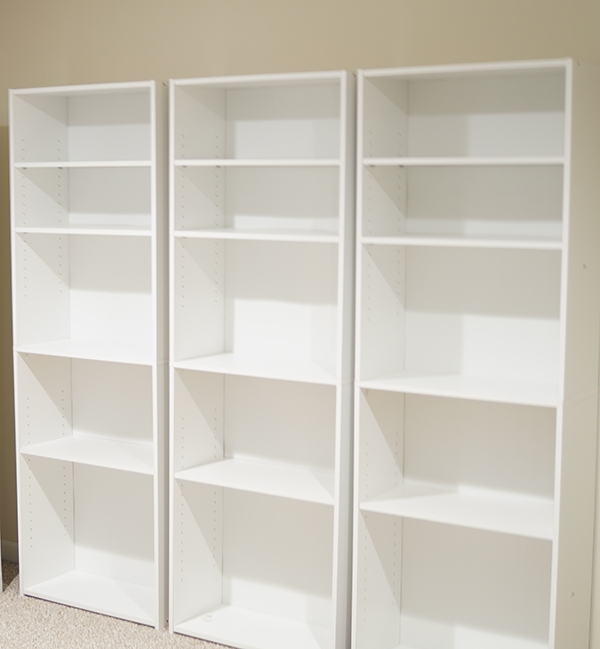 Diy Custom Built Ins From Bookshelves With Regard To Famous Sauder Bookcases (View 4 of 15)