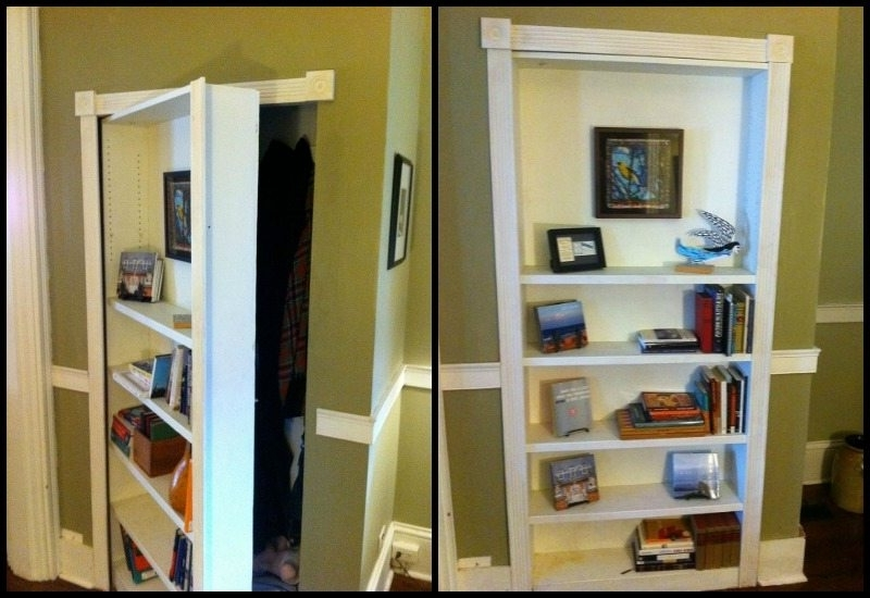 Diy Projects For Everyone! Inside Secret Door Bookcases (Gallery 2 of 15)
