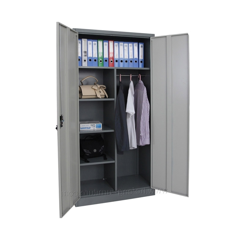 Double Door Metal Wardrobe/godrej Steel Almirah Designs – Buy Regarding Most Popular Metal Wardrobes (View 3 of 15)