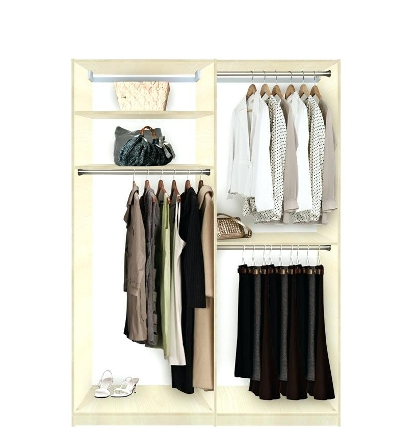 Double Hanging Wardrobe – Paulsstainedglass Inside Trendy Wardrobes With Double Hanging Rail (View 4 of 15)