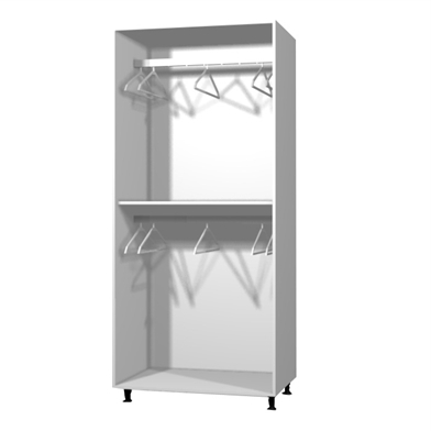 Double Rail Wardrobe Throughout Widely Used Wardrobe Double Hanging Door – Fitted Wardrobe Doors Online (View 5 of 15)