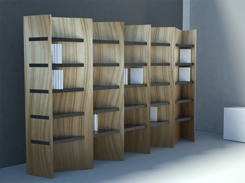 Double Sided Bookcase Spica Serieszuri Design (View 4 of 15)