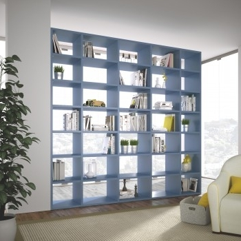 Double Sided Bookcases Online – Arredaclick Throughout Fashionable Double Sided Bookcases (Gallery 8 of 15)
