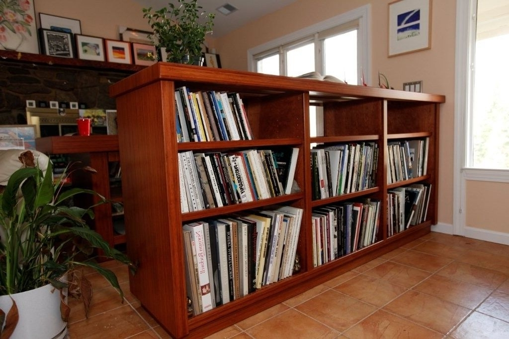 Double Sided Bookcases Pertaining To Current Hand Made Bamboo Layout Table And Two Sided Bookcasesjk (View 15 of 15)