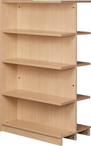 Double Sided Bookcases With Well Known Double Sided Adjustable Shelving Adder With Eight Shelves (Gallery 7 of 15)