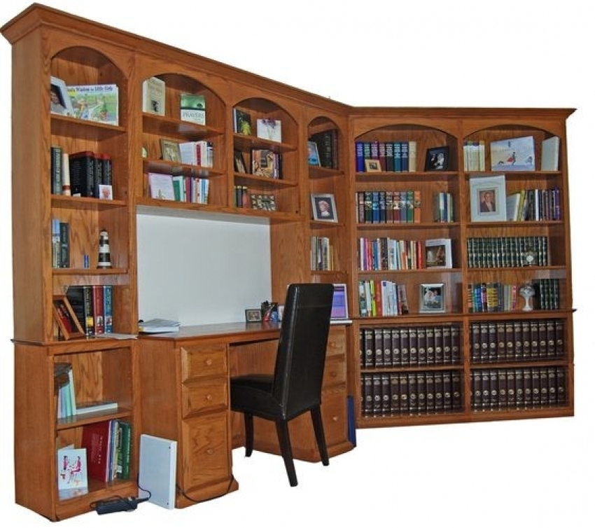 Durham Bookcases Inside Most Up To Date Hand Made Oak Desk Built In Durham Bookcases Custommade Durham (Gallery 5 of 15)