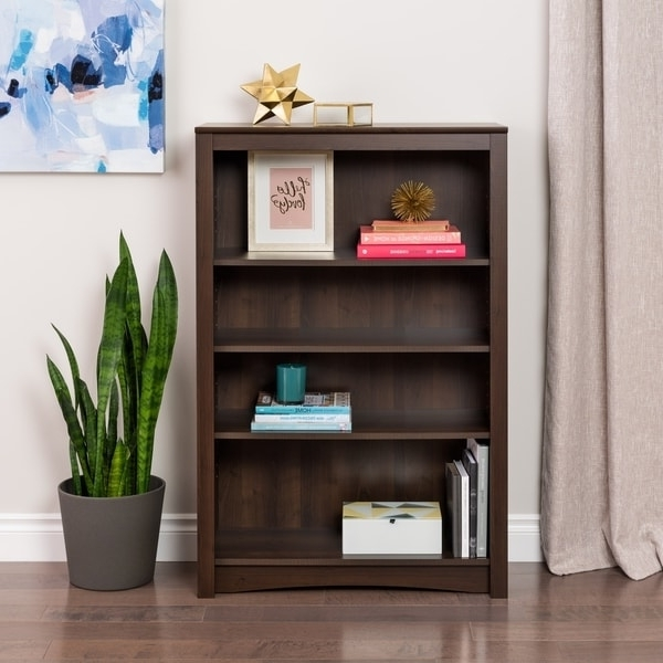 Ellsworth Espresso 4 Shelf Bookcase – Free Shipping Today Inside Famous 4 Shelf Bookcases (View 8 of 15)