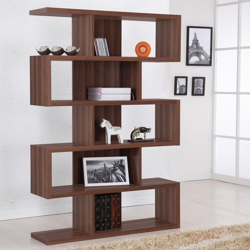 Enitial Lab Marcel Modern Walnut Bookcasedisplay Stand Walnut In Most Recent Modern Bookcases (View 4 of 15)
