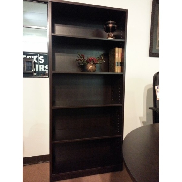 Espresso Bookcases Intended For Most Popular New Espresso Finish 6' Bookcase – Sk Office Furniture (View 4 of 15)