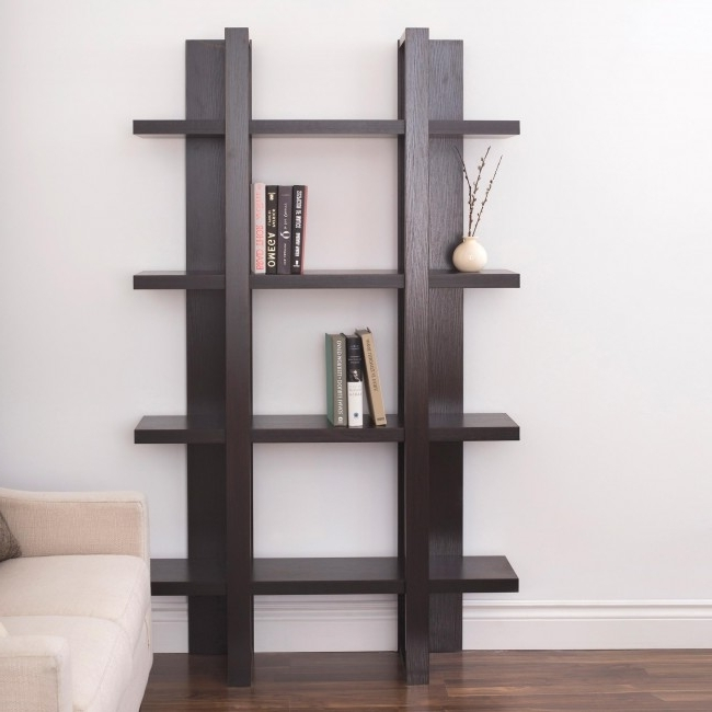 Espresso Bookcases Within Fashionable Ksp Meridian Bookshelf 4 Shelf (Espresso) (View 6 of 15)