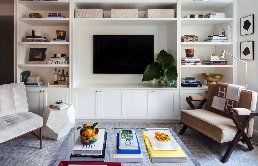 exciting built in bookshelves around tv 95 for home decor ideas throughout best and newest built - Built In Bookshelves Around Tv