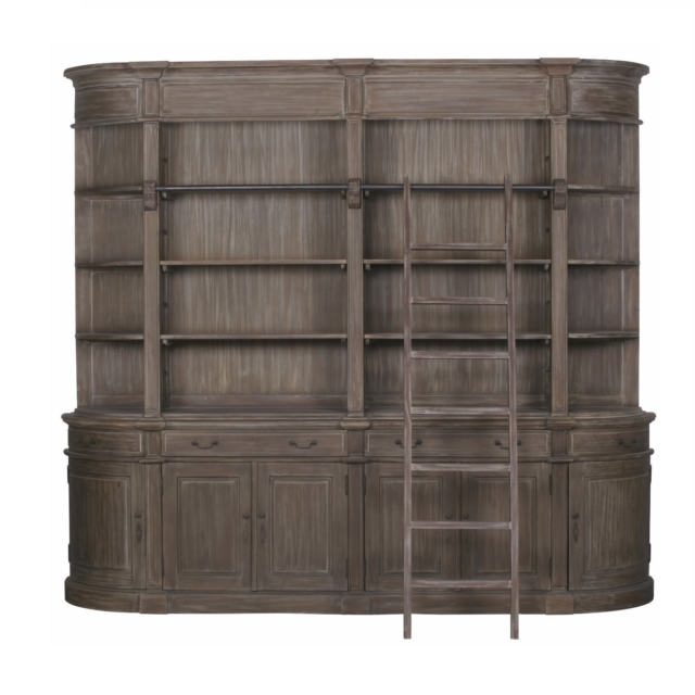 Extra Large Bookcases Intended For Most Up To Date Stunning Vintage French Style Extra Large Wooden Double Bookcase (View 8 of 15)