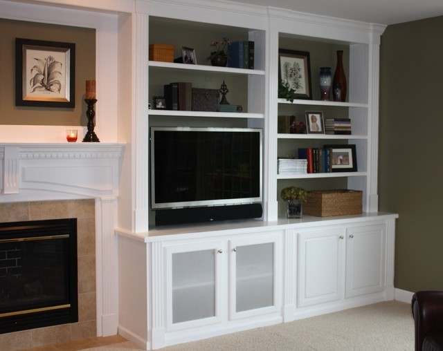 Family Room Bookcases For Trendy Built In Bookcases – Traditional – Family Room – New York – (View 3 of 15)
