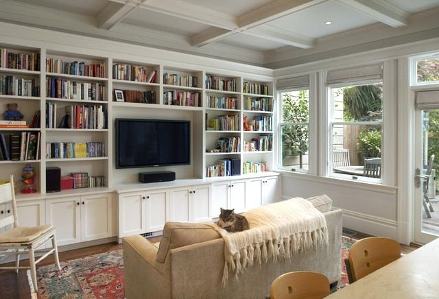 Family Room Bookcases With Most Recently Released Tv Bookcases Elegant Open Concept Family Room Photo In With A (View 5 of 15)