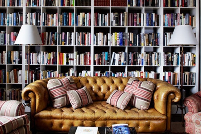 Famous 20 Drool Worthy Home Libraries Brit Co Full Wall Bookshelves For Library Wall Bookshelves (View 15 of 15)