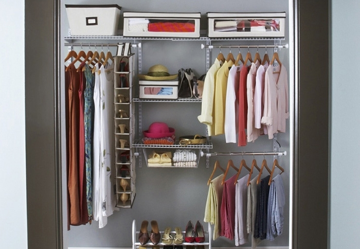 Famous 9 Storage Ideas For Small Closets For Wardrobes Hangers Storages (View 3 of 15)