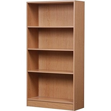 Famous Amazon: Mylex Orion 4 Shelf Bookcase, 42344, Black (Oak In 4 Shelf Bookcases (View 9 of 15)