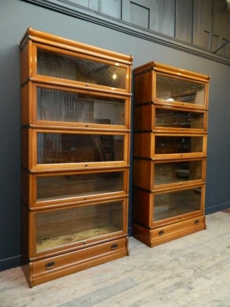 Famous Barrister Bookcases Pertaining To European Antiques : A Pair Of Globe Wernicke Barrister Bookcases C (View 11 of 15)