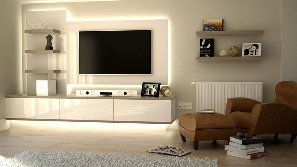 Famous Bespoke Tv Stands Regarding Wall Units: Amusing Tv Surround Cabinets Tv Surround, Cabinet With (View 8 of 15)