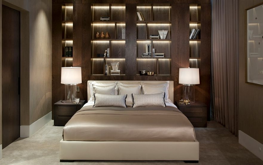 Famous Bookcase Headboard King Furniture Modern House Design Inside Bookcases Headboard King (View 6 of 15)