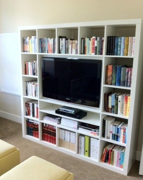 Famous Bookcases With Tv Unit With Regard To Ikea Billy Tv Stand Gorgeous Ikea Tv Stand Bookshelf Best  (View 6 of 15)