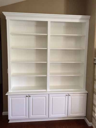 Famous Bookshelves With Cabinet Base With Heartland Remodeling Llc – Custom Shelving For O'fallon, Mo And Beyond (View 12 of 15)