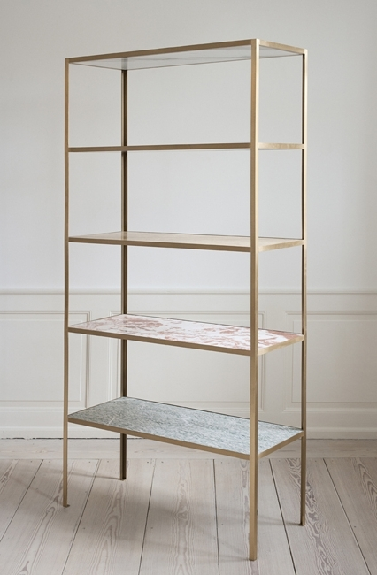 Famous Brass Bookcases For Muller Van Severen, Contemporary, Belgium Shelves In Different (View 7 of 15)