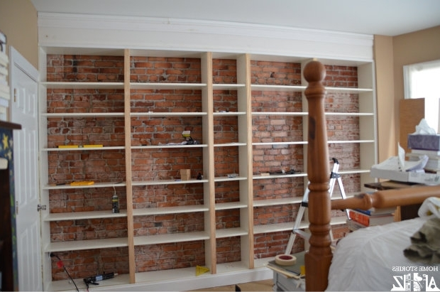 Famous Build Bookcases Wall Within Wall Units: Extraordinary Built In Bookcase Kit Built In Bookcase (View 9 of 15)