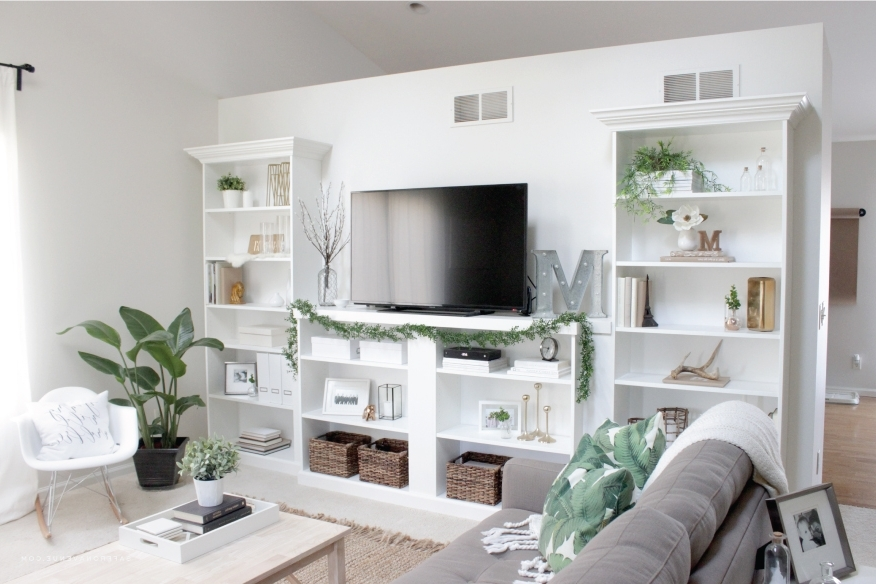 Famous Built In Bookcases With Tv Throughout 10 Ways To Diy Your Own Built In Shelves (View 11 of 15)