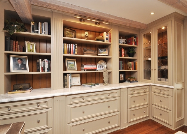 Famous Built In Library Shelves Throughout Library Shelves And Built In Storage – Traditional – Home Office (View 8 of 15)