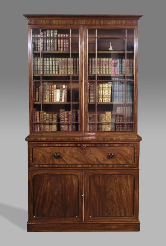 Famous Cabinet Bookcases In Antique Secretaire Bookcase, Victorian Secretaire Bookcase (View 7 of 15)