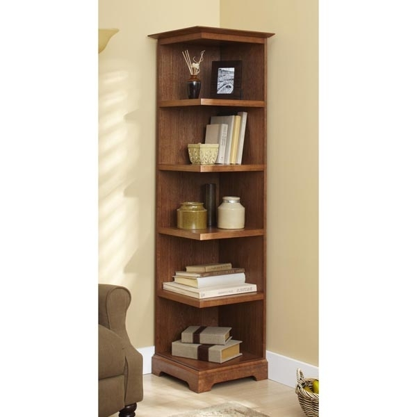 Famous Corner Bookcases Regarding Corner Bookcase Woodworking Plan From Wood Magazine (View 9 of 15)