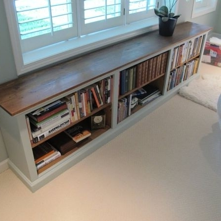Famous Furniture, The White And Brown Long Low Bookshelf With The For Long Low Bookcases (View 4 of 15)