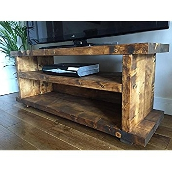 Famous Handmade Tv Unit Within Solid Rustic Handmade Pine Tv Unit, Finished In A Chunky Country (View 4 of 15)