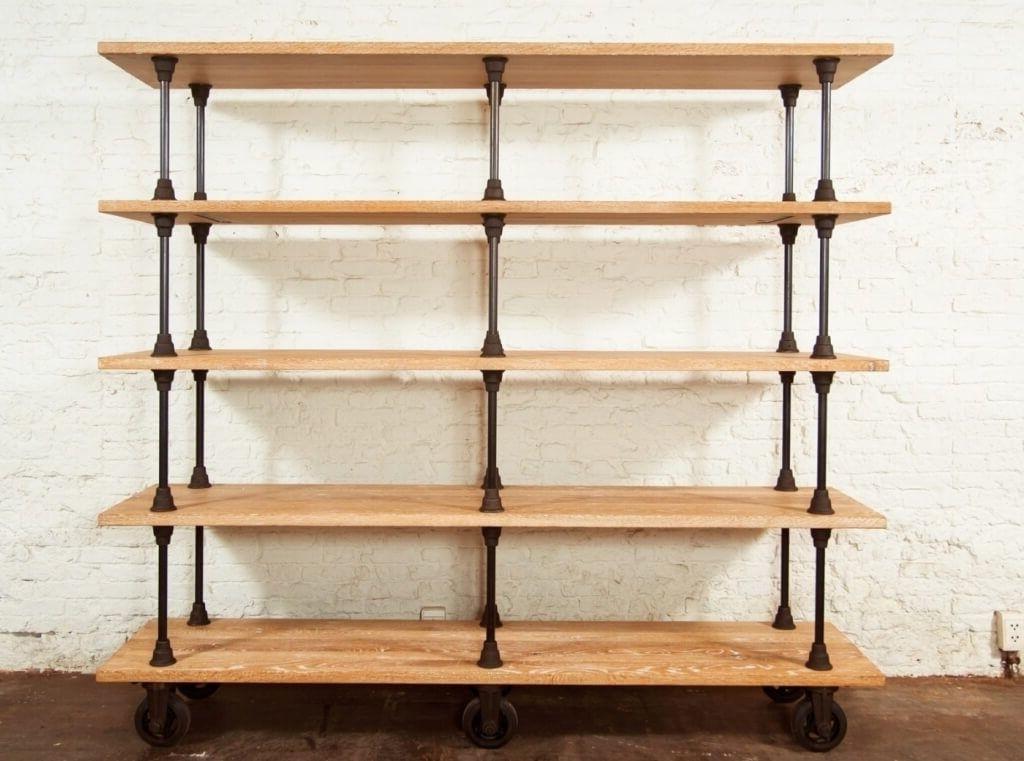 best 15 of free standing shelving units wood rh jsourcery com dark wood free standing shelves wooden bathroom free standing shelves