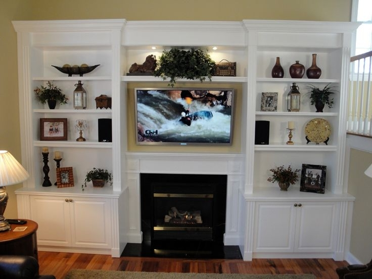 Famous Wall Units: Awesome Built In Bookshelves Around Tv Built In Inside Built In Bookshelves With Tv (View 8 of 15)