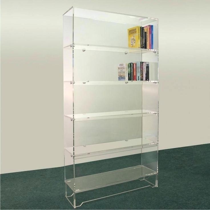 Fashionable Acrylic Bookcases Pertaining To Glass Covered Bookcase Furniture Acrylic Bookshelf For Acrylic (View 10 of 15)