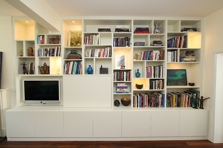 Fashionable Bespoke Shelving Units With The Advantages Of A Bespoke Audio Visual Unit – Empatika (View 9 of 15)