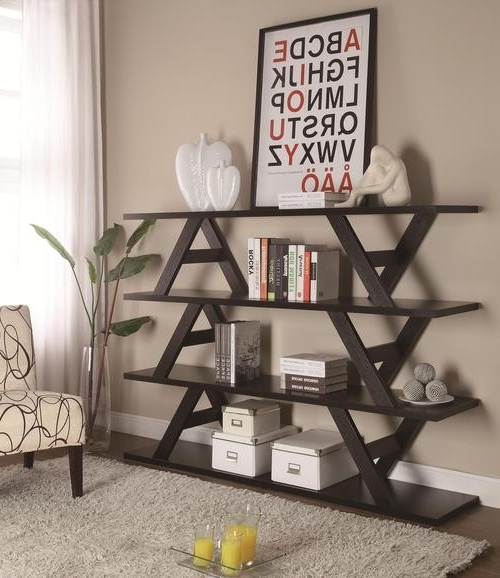 Fashionable Coaster Bookcases In Coaster Bookcases 3 Tier Stacked Bench Bookshelf (View 12 of 15)