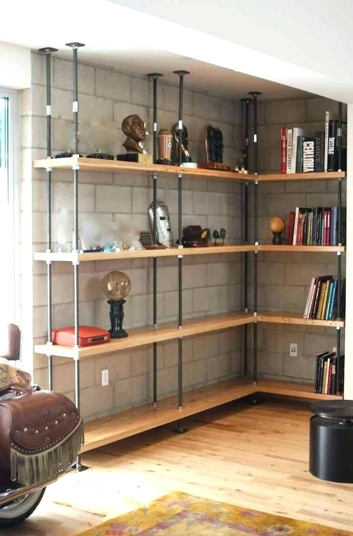 Fashionable Industrial Book Shelf Handmade Bookcase Industrial Built In Intended For Handmade Bookcases (View 8 of 15)