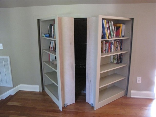Fashionable Invisidoor Hidden Door Bookcase – Traditional – Family Room Throughout Hidden Door Bookcases (View 4 of 15)