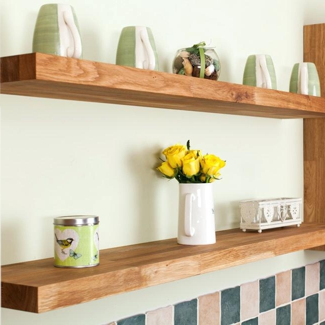 Fashionable Oak Shelves With Regard To Light Oak Floating Shelves Oak Shelves Oak Bookshelf Uk Iliffave (View 5 of 15)
