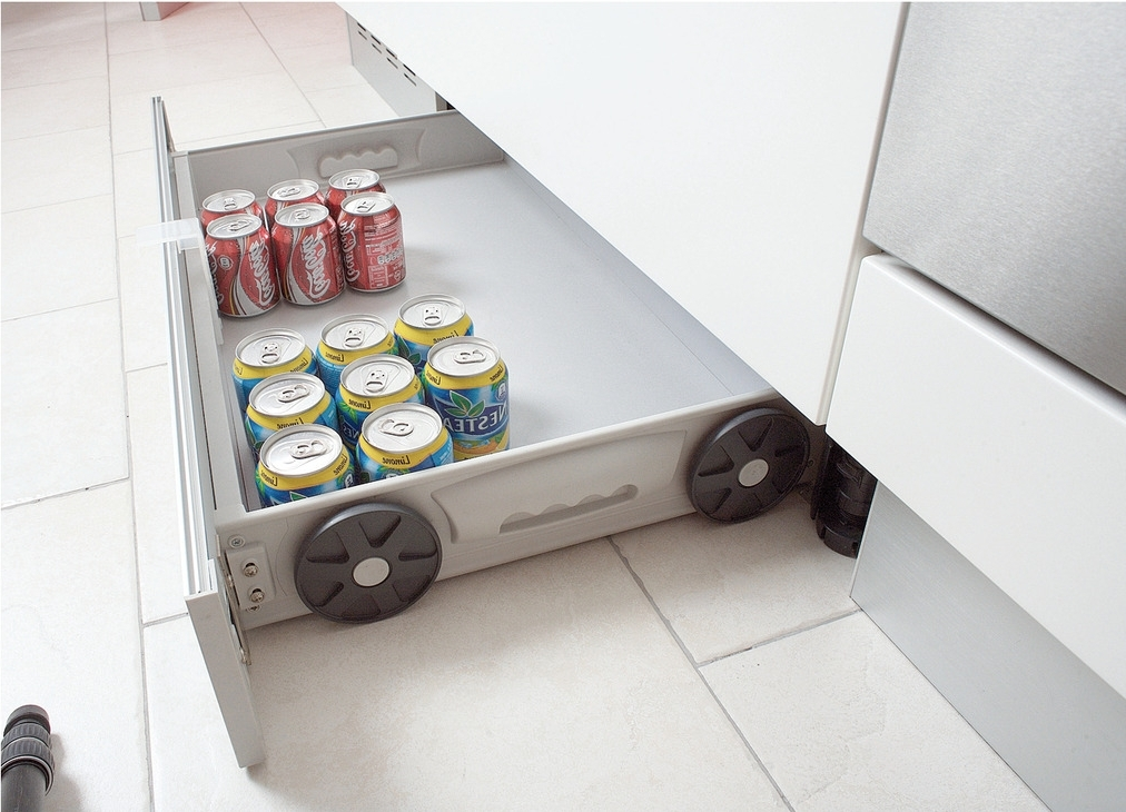 Fashionable Plinth Drawers Throughout Side Panels With Wheels, For Behind Plinth Drawer Fitting – Häfele (View 5 of 15)