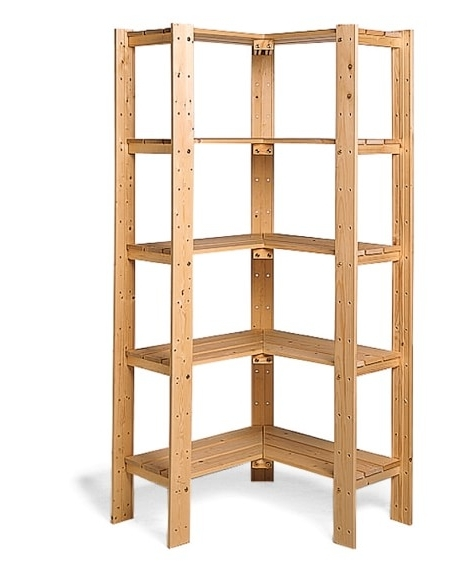 Fashionable Storage Shelving Units In Swedish Wood Shelving (View 7 of 15)