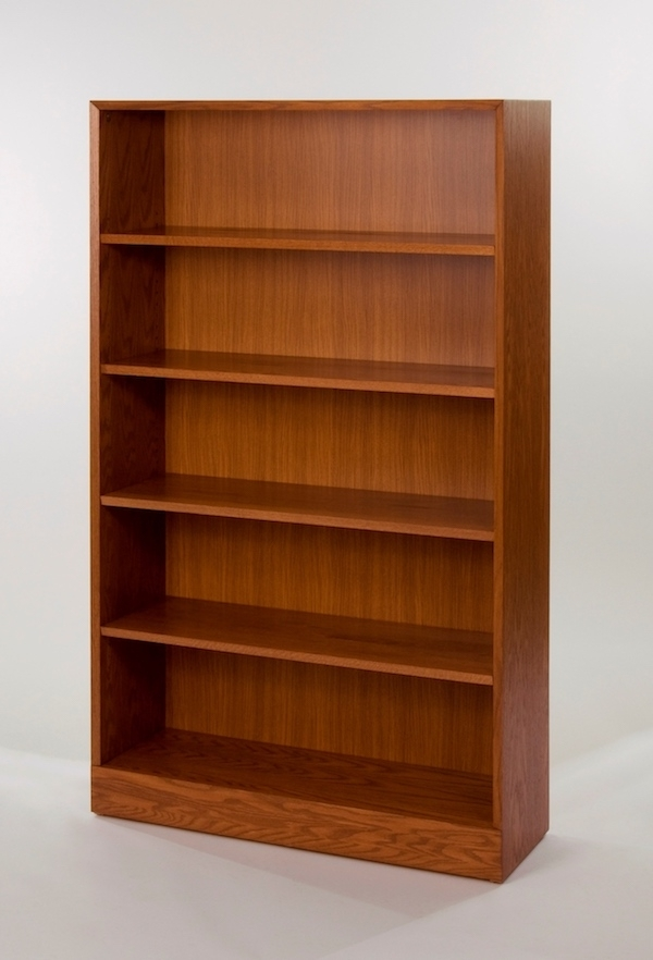 Favorite Adjustable 4 Shelf Wooden Bookcase In Wooden Bookshelves (View 6 of 15)