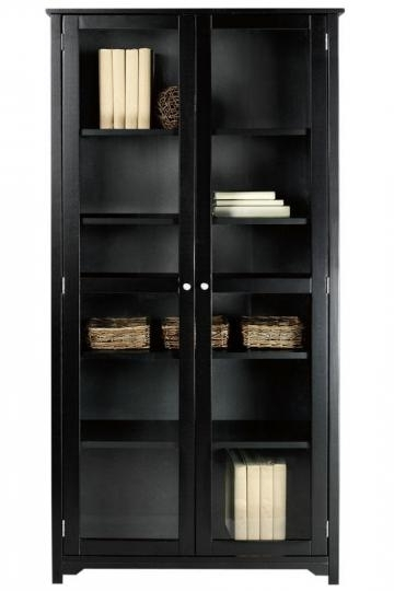 "Favorite Bookcases With Glass Doors Regarding Oxford 36""w 6 Shelf Bookcase With Glass Doors Get All The Storage (View 7 of 15)"