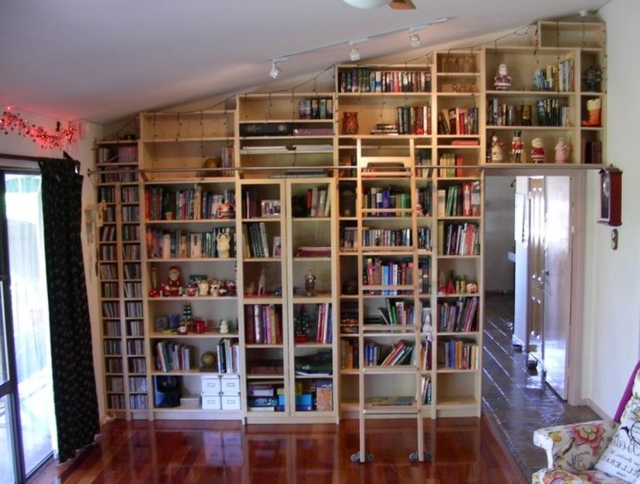 Favorite Bookcases With Ladder And Rail In Bookcase Ladder And Rail : Doherty House – Bookcase Ladders Wooden (View 4 of 15)