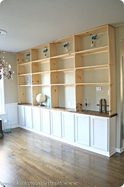 Favorite Build Built In Bookcases Within Diy Built Ins Bookcase With Base Cabinets From The Big Box Store (View 3 of 15)